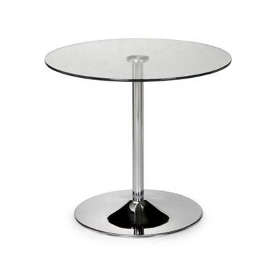 Contemporary Glass Pedestal Table