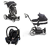 Mee-Go Inspire Maxi Cosi Travel System - Black Denim Special Edition