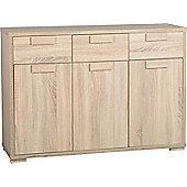 Cambourne 3 Door 3 Drawer Sideboard in Sonoma Oak Effect Veneer