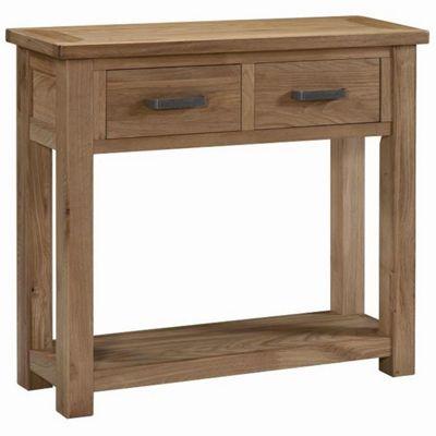Kelburn Furniture Lyon Console Table in Light Oak Matt Lacquer