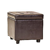 Sofa Collection Santos Storage Footstool - Brown