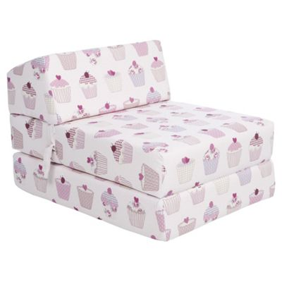 Buy Sit N Sleep Kids Single Sofa Bed Pink Cupcakes From