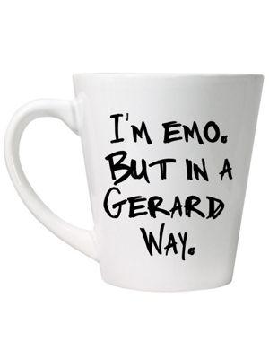 I'm Emo But In A Gerard Way Latte Mug, White