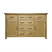 London Light Oak Large 7 Drawer Sideboard