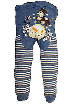 Dotty Fish Knitted Baby Leggings - Blue Hey Diddle Diddle - Blue