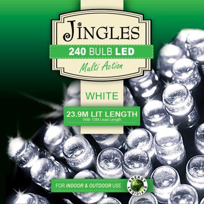 Jingles 240 Bulb White Led Lights-6ft Tree