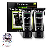 SHILLS Purifying Facial Charcoal Peel-off Black Mask 50ml (Pack of 2)