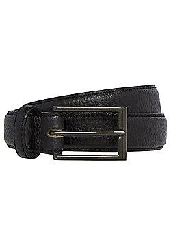 F&F Tumbled Leather Belt - Black