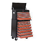 Homcom Rolling Toolbox Chest Box 16 Drawers Wheel Roller