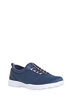 F&F Active Elastic Lace Sock Trainers - Blue marl