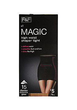 F&F Magic High Waisted Shaper 15 Denier Tights with Lycra® - Natural