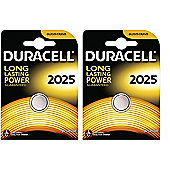 Duracell CR2025 3V Lithium Coin Cell Battery (Pack 2)