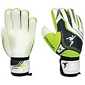 Precision Schmeichology 5 Flat Palm Finger Protection Goalkeeper Gloves - White