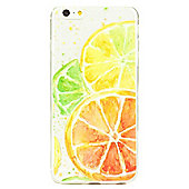iPhone 6 Plus Fun and Quirky Citrus Fruits Pattern Clear Silicone Case - Multi