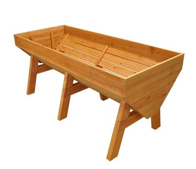 Buy Large Veg Trough Wooden Raised Vegetable Bed Planter From Our