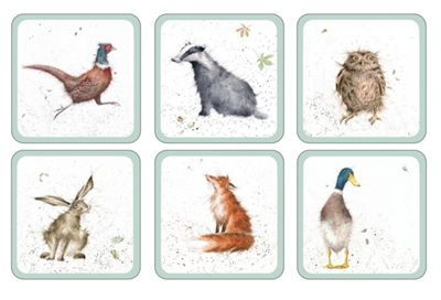 Pimpernel Wrendale Designs The Country Set Coasters Set of 6