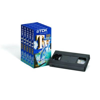 VHS 5PK TV-180 TDK 8 PK/CTN
