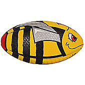 Optimum Stinger Rugby League Union Ball Black/Yellow - Size 4