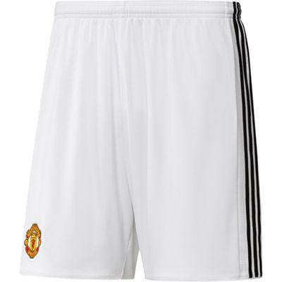 adidas Manchester United 2017/18 Mens Home Football Short White - L
