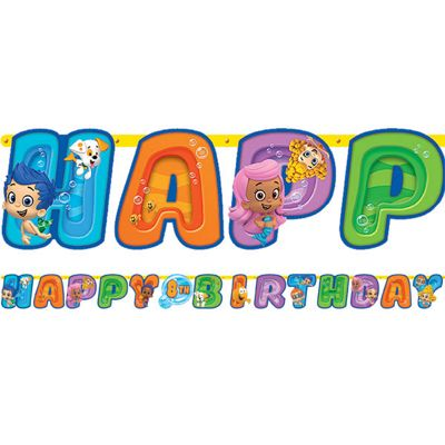 Bubble Guppies Banner - 3.2m Add An Age Letter