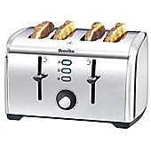 Breville 4 Slice Stainless Steel Toaster - Silver