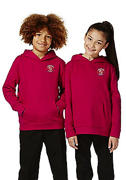 Unisex Embroidered School Hoodie with As New Technology - Red