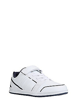 F&F Riptape Elastic Lace Trainers - White