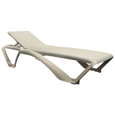 Resol Marina Sun Lounger - Ivory Cream Frame with Natural / Cream Canvas