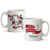 Mickey and Minnie Mouse Personalised Kiss Mug