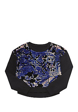 Mini Red Evette Sequinned Jumper - Black multi