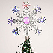 LED Snowflake Tree Topper