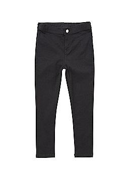 F&F Stretch High Waisted Skinny Jeans - Black