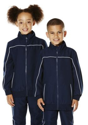 F&F School Piped Seam Soft Touch Sports Jacket 3-4 years Navy