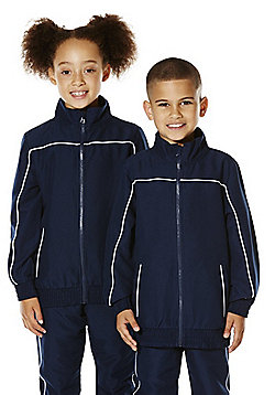F&F School Piped Seam Soft Touch Sports Jacket - Navy