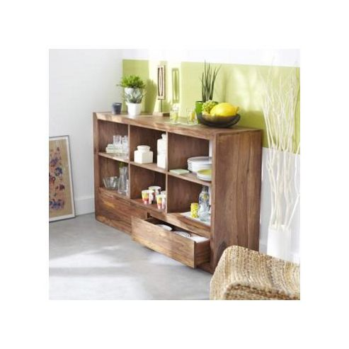 Tikamoon Villa Palisander 2 Drawer Bookcase
