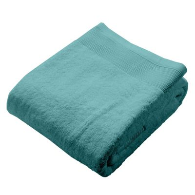 Homescapes Teal Luxury Bath Sheet 500 GSM 100% Egyptian Cotton, 95 x 150 cm