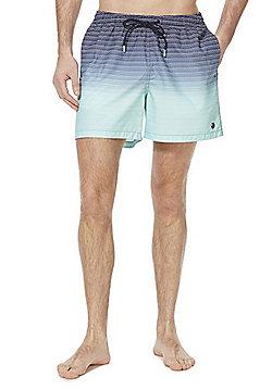 F&F Zig Zag Ombre Quick Dry Swim Shorts - Blue