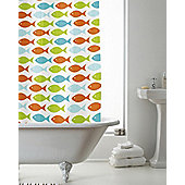 Modern Makeover Coastal Fish Shower Curtain