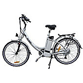 "Electric ETourer Silver - 26"" wheel ebike"