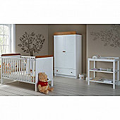 OBaby Winnie the Pooh Double 3pc Room Set (White)