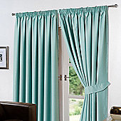 "Dreamscene Pair Thermal Blackout Pencil Pleat Curtains, Aqua - 90"" x 54"" (228x137cm)"