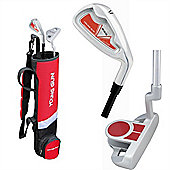 Young Gun Sgs Junior Birdie Right Hand Golf Set + Bag Age 9-11 - Red