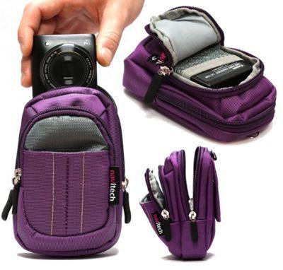 Navitech Purple Digital Camera Case Bag For The Sony DSC-RX100/ Sony DSC-RX100M5