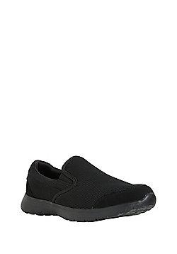 F&F Mesh Slip-On Plimsolls - Black