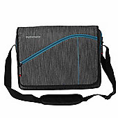 Promate Ascend1-MB Premium Messenger Bag for Laptops up to 15.6 - Grey