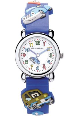 Cannibal Kids Boys Blue Rubber Strap Watch CK199-05