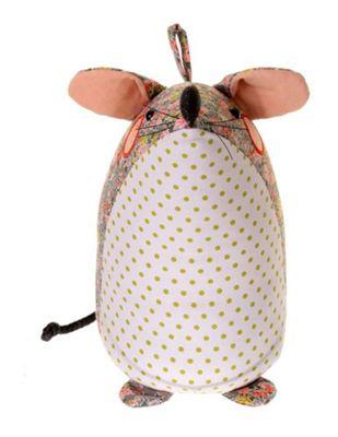Ulster Weavers Fabric Weighted Doorstop Door Stop, Mouse Design