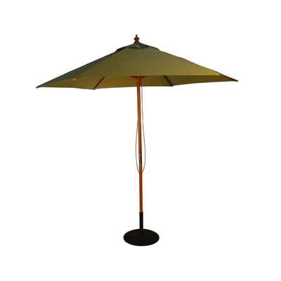buy brackenstyle parasol wood pulley light green from. Black Bedroom Furniture Sets. Home Design Ideas