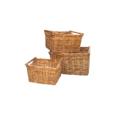 We no longer sell this product. Buy Wicker Valley 32cm Lacak Rattan Storage Basket  Set of 3  from