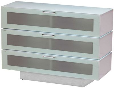 Stil-Stand High Gloss White 3 Tier TV Cabinet for up to 50 inch TVs